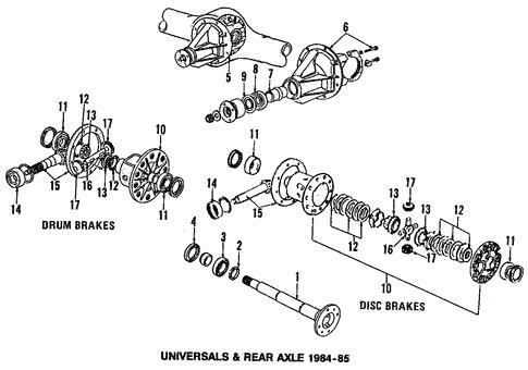 Genuine OEM Differential Parts For 1984 Mazda RX-7 GSL-SE