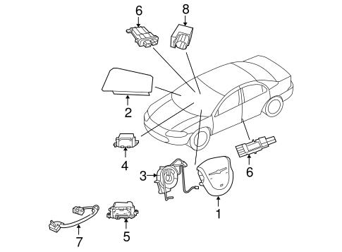 Air Bag Components For 2008 Chrysler Sebring