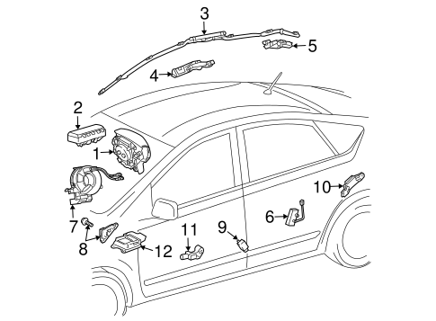 ELECTRICAL/AIR BAG COMPONENTS for 2009 Toyota Prius #1