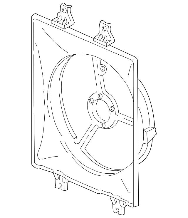 2003-2006 Acura MDX 5-DOOR Shroud, Air Conditioner 38615