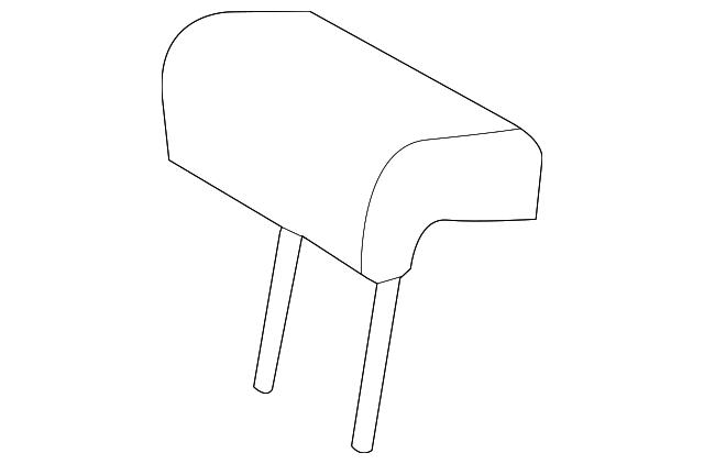 TOYOTA Genuine 71960-42021-B4 Headrest Assembly