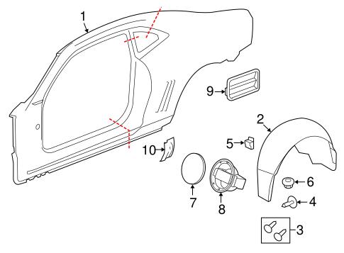 Quarter Panel Components For 2013 Chevrolet Camaro Ss