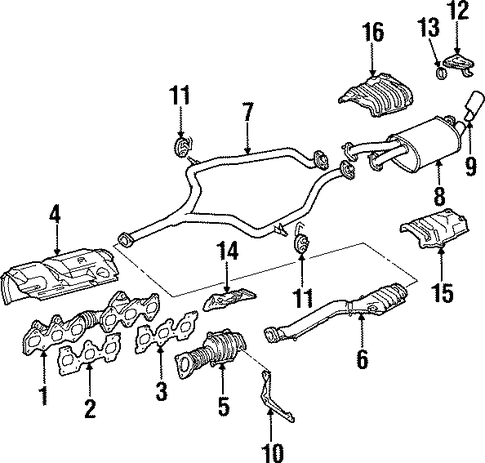 EXHAUST SYSTEM/EXHAUST COMPONENTS for 1997 Toyota Supra #1
