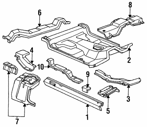 Body/Floor - Cab for 1997 Ford Ranger #2