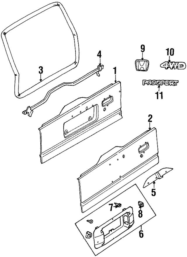 Panel Tail Gate