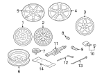 Wheel, Steel - Mitsubishi (MN101093)