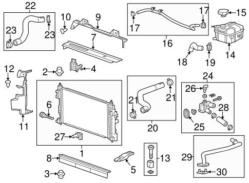 2013 chevrolet malibu engine diagram radiator   components for 2013 chevrolet malibu gmpartonline  2013 chevrolet malibu