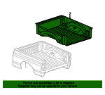 Bed Liner, Under-The-Rail, 2Door-8.0 Bed - Mopar (82214982AC)