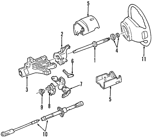 1998 Ford Expedition Steering Diagram