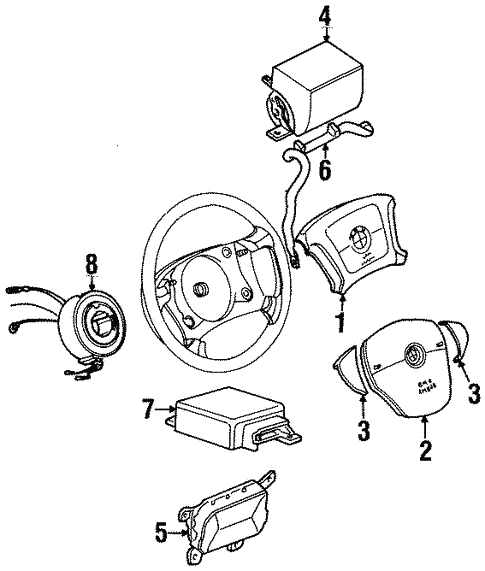 Air Bag Components For 1997 Bmw 318ti