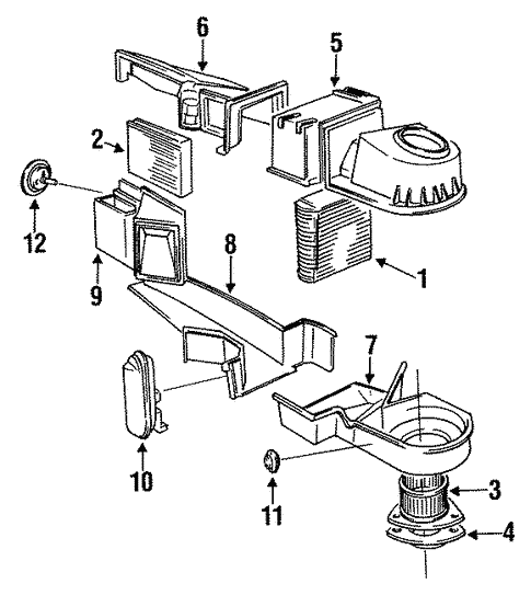 Condenser Compressor Lines For 1994 Volvo 940