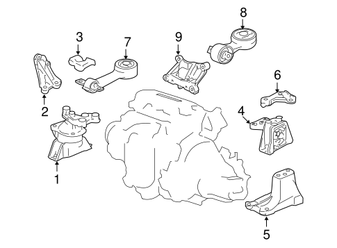 Rubber Assembly, Transmission Mounting