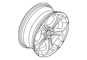 Wheel, Alloy - BMW (36-10-3-451-880)