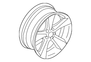 Wheel, Alloy - BMW (36-11-6-764-535)