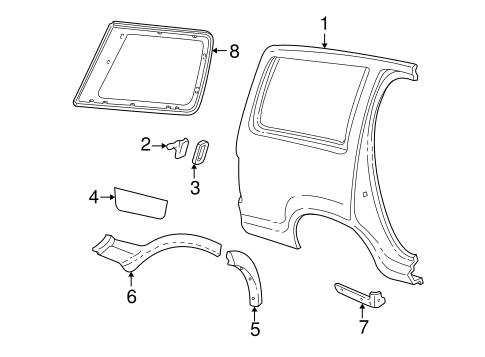 Glass hardware for 1999 ford explorer for 2000 ford explorer rear window hinge