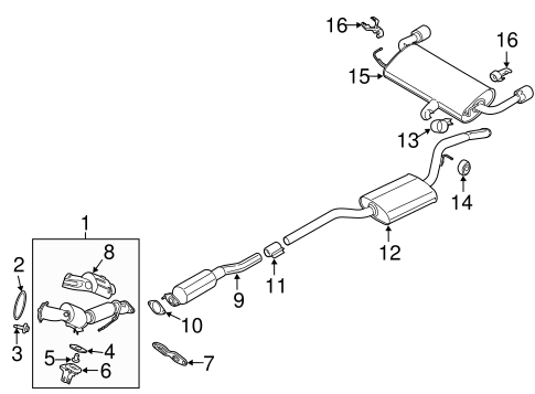 Exhaust Components For 2015 Ford Escape