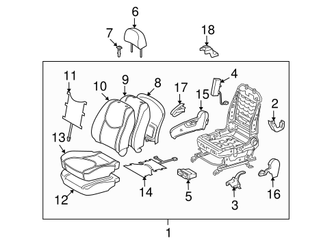 Front Seat Components For 2007 Toyota Rav4