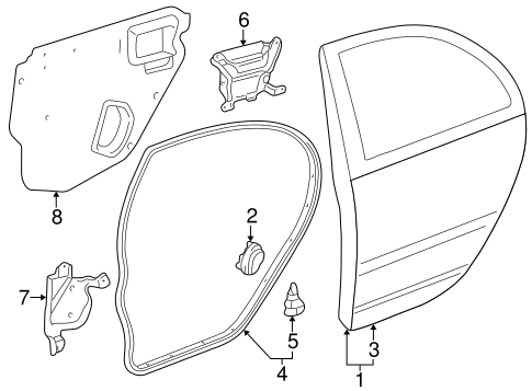BODY/DOOR & COMPONENTS for 2006 Toyota Corolla #1