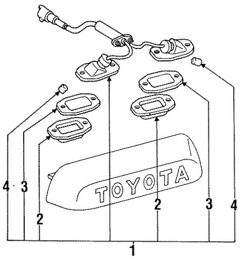 License Lamps For 1991 Toyota 4runner