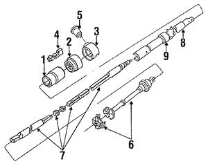 ford f 150 steering column diagram 1987 1991 ford 1987 1991 ford f150 f250 f350 steering column  1991 ford 1987 1991 ford f150 f250 f350