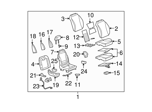 front seat components for 2007 saturn aura #1