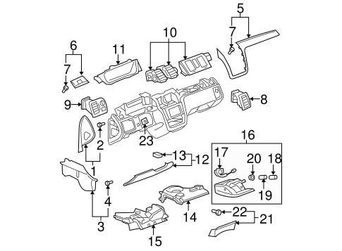 Oem 2007 Cadillac Dts Instrument Panel Components Parts