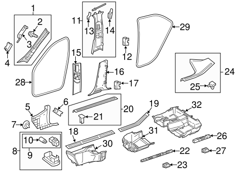 Interior Trim - Pillars for 2009 Mercedes-Benz E 320 #1
