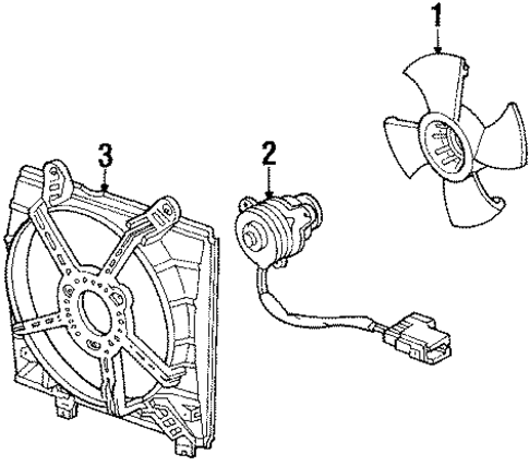 Motor, Cooling Fan (Mitsuba)