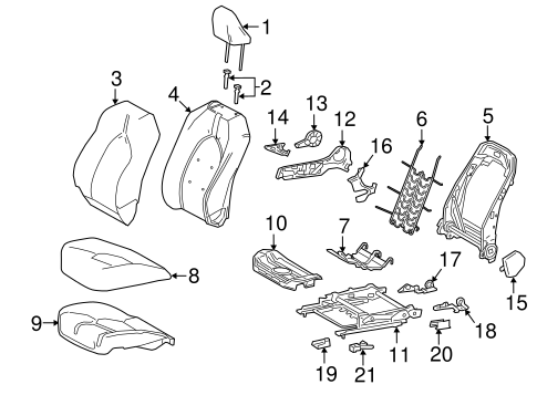 TOYOTA Genuine 71811-06080-B1 Seat Cushion Shield
