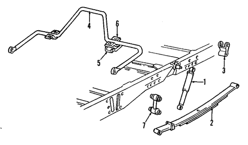 Rear Suspension for 1989 Chevrolet C3500 #0
