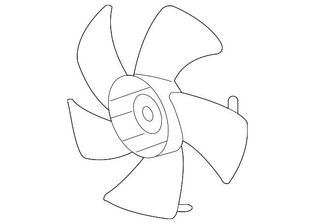 2008 2017 Honda Fan Cooling 19020 R40 A01