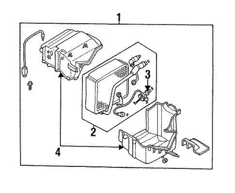 Evaporator Components For 1994 Nissan Sentra Nissan Oem Parts Now