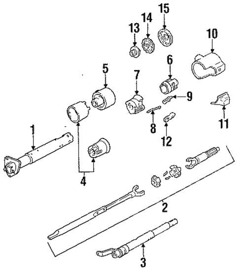 Steering Column Assembly For 1991 Chevrolet S10