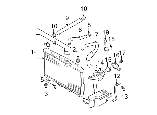 Radiator Assembly Drain Plug