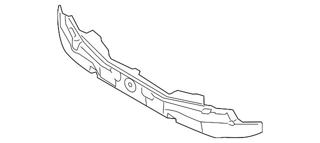 New CAPA Bumper Absorber for Kia Optima KI1070132C 2014 to 2015 Front