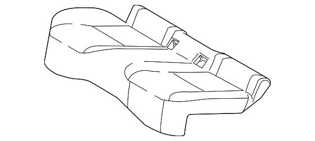 TOYOTA Genuine 71075-0R010-E0 Seat Cushion Cover