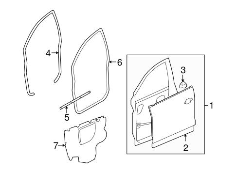 Door Components For 2009 Saturn Vue