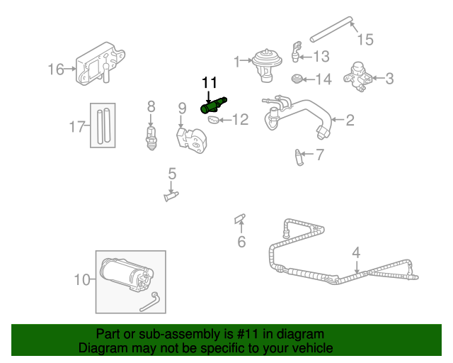 Mazda AJ03-20-661A Fuel Injection Idle Air Control Valve Gasket