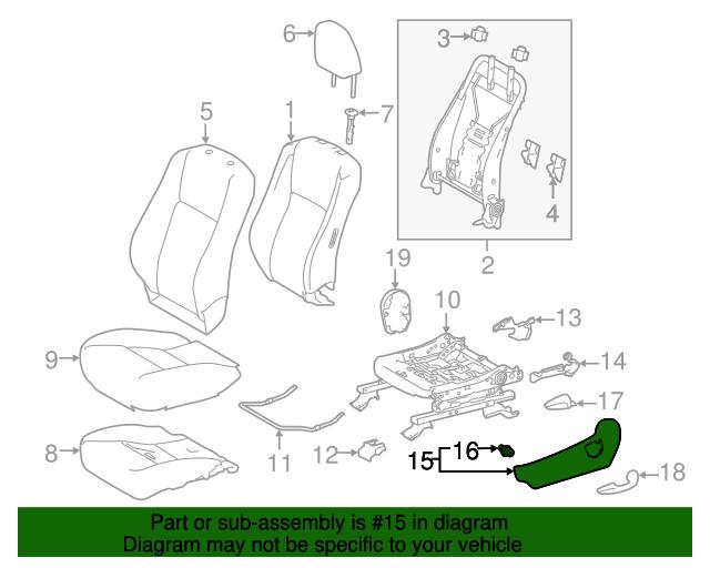 TOYOTA Genuine 79022-0E010-B0 Seat Cushion Cover Sub Assembly