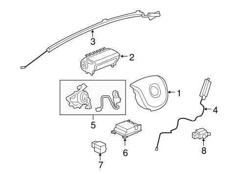 Air Bag Components for 2009 Pontiac G8 | GMPartOnline