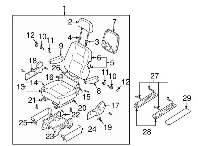 2002 2003 Kia Sedona Seat Assembly 2k52y 57400ebt4