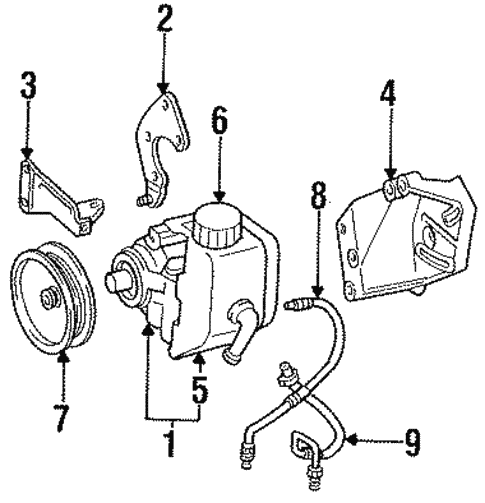 Pump Hoses For 1997 Jeep Grand Cherokee