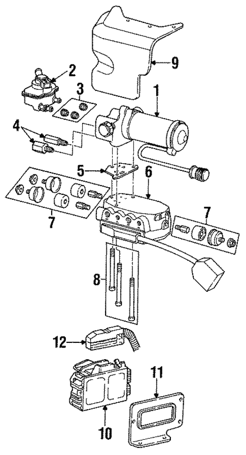 Abs Components For 1993 Ford Taurus