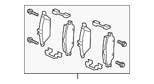 Brake Pads - Mercedes-Benz (000-420-30-02)