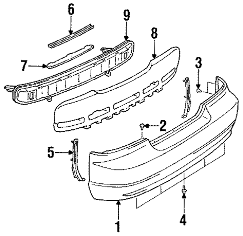 BODY/BUMPER & COMPONENTS - REAR for 1996 Toyota Celica #1