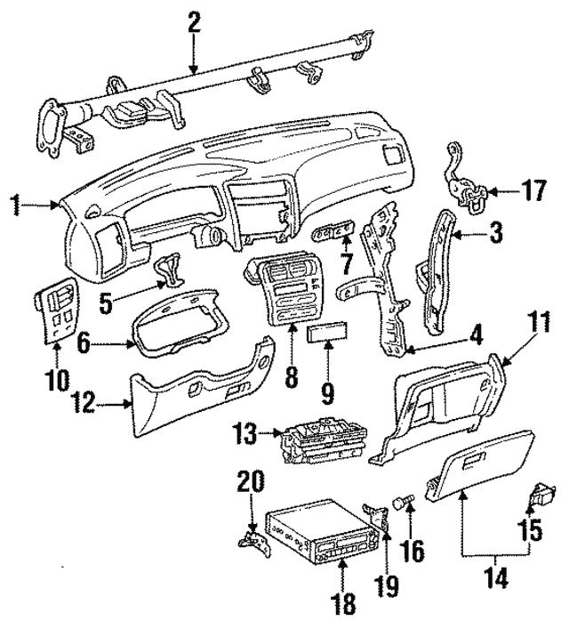 1989 2012 Toyota Hinge Pin 55574 10010