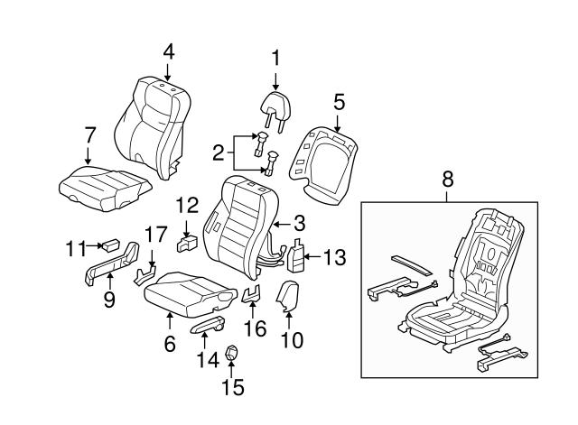 Rear Honda Genuine 82131-SNE-A32ZC Seat Cushion Trim Cover