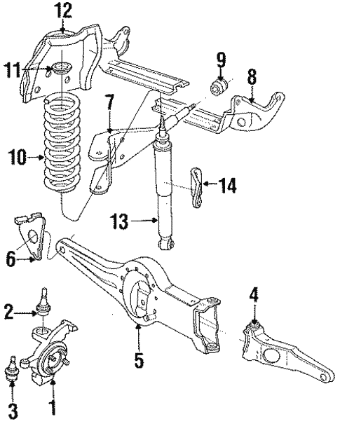 1992 Ford Ranger Suspension