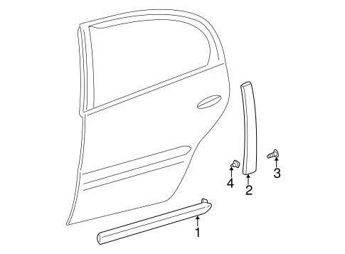 Body/Exterior Trim - Rear Door for 2005 Buick LeSabre #1