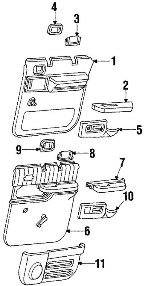 Oem 1996 Gmc Suburban K2500 Interior Trim Rear Door